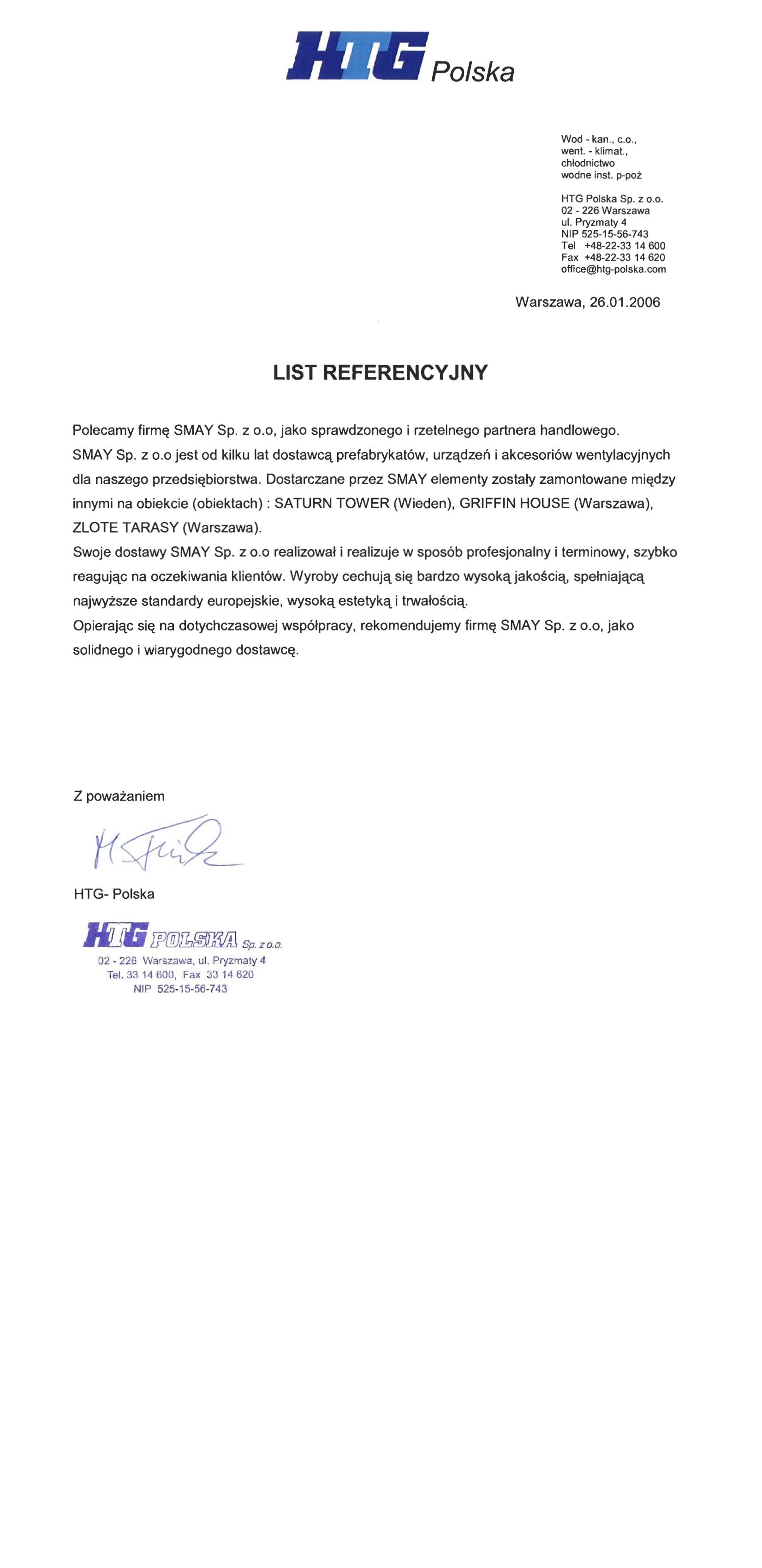 Reference - HTG Polska