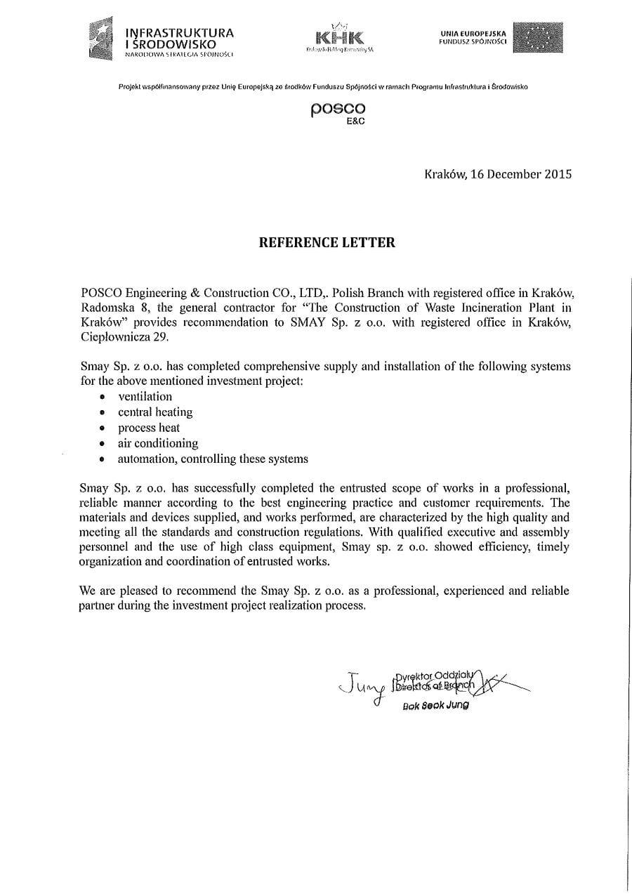 Reference - POSCO Engineering & Construction CO., LTD