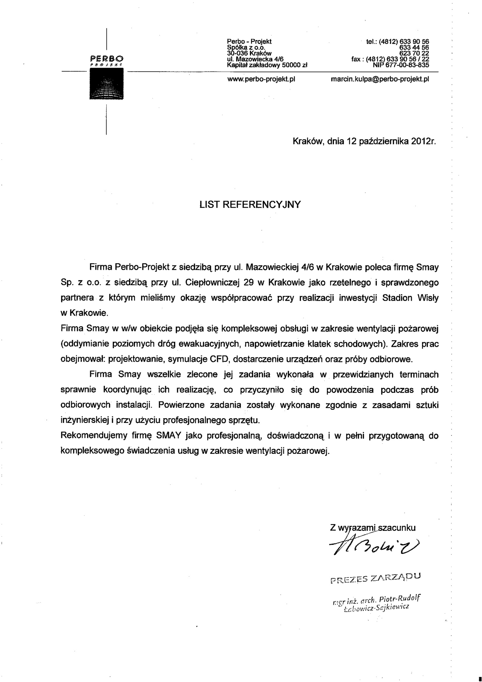 Reference - Perbo-Projekt