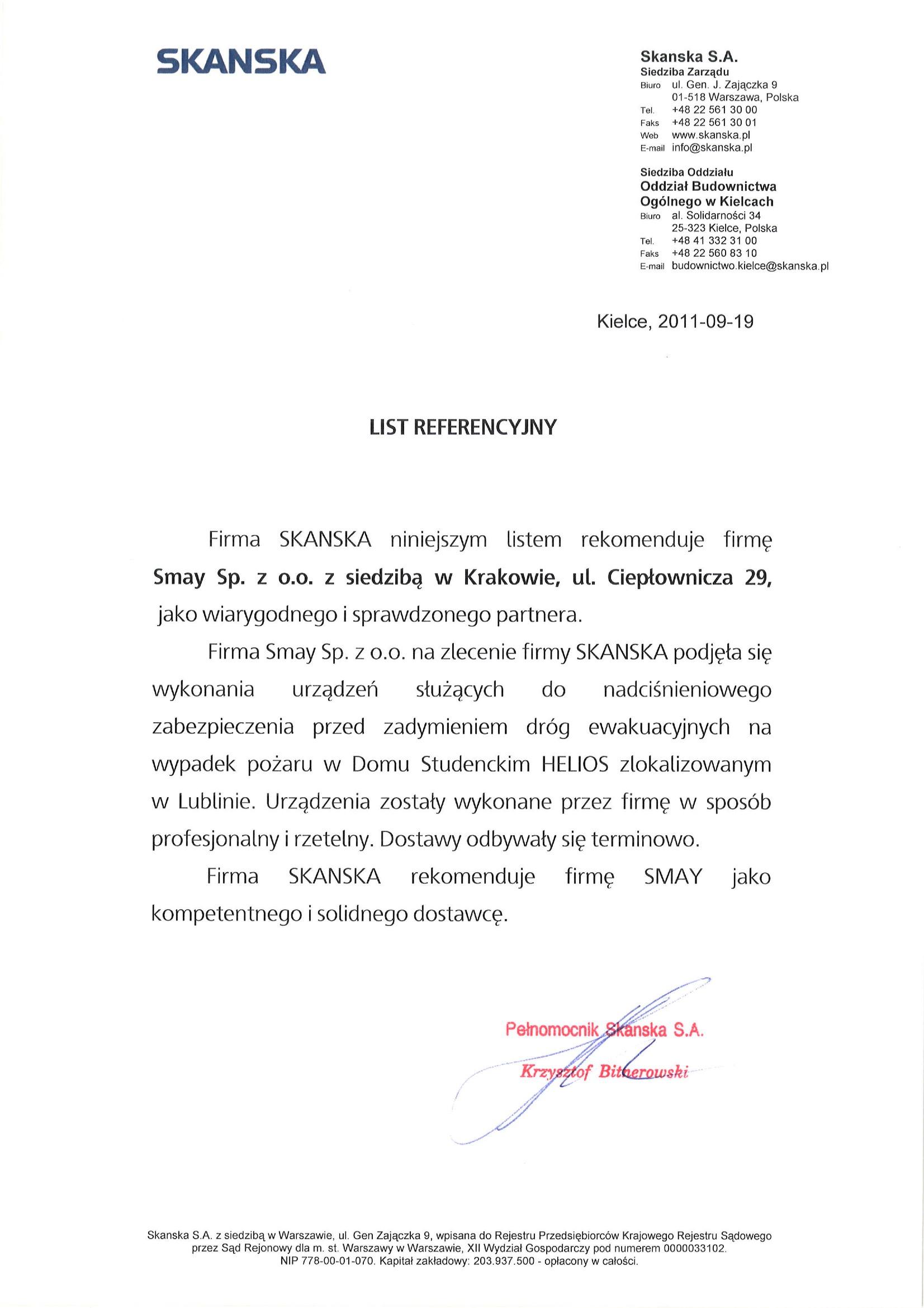 Reference - SKANSKA