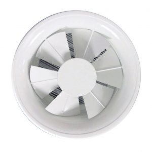 Swirl diffuser with adjustable air control blades NSDZT