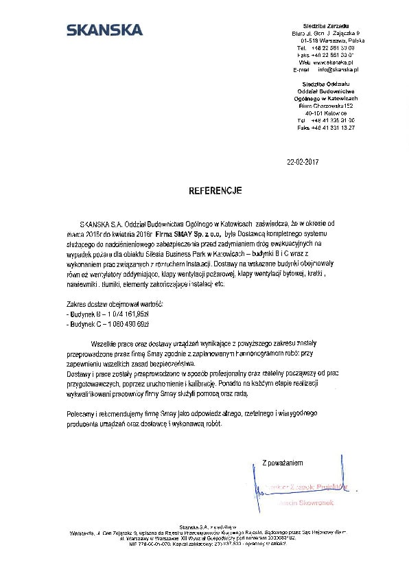 Reference - SKANSKA S.A.
